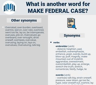 make federal case, synonym make federal case, another word for make federal case, words like make federal case, thesaurus make federal case