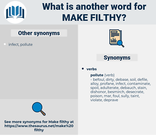 make filthy, synonym make filthy, another word for make filthy, words like make filthy, thesaurus make filthy
