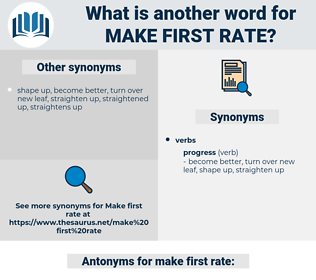 make first rate, synonym make first rate, another word for make first rate, words like make first rate, thesaurus make first rate