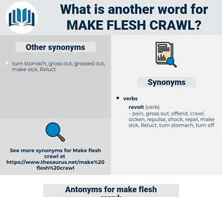 make flesh crawl, synonym make flesh crawl, another word for make flesh crawl, words like make flesh crawl, thesaurus make flesh crawl