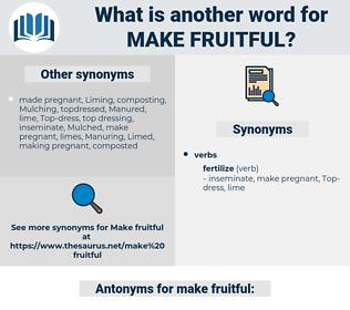 make fruitful, synonym make fruitful, another word for make fruitful, words like make fruitful, thesaurus make fruitful