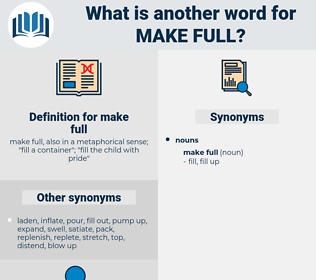 make full, synonym make full, another word for make full, words like make full, thesaurus make full