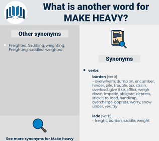 make heavy, synonym make heavy, another word for make heavy, words like make heavy, thesaurus make heavy