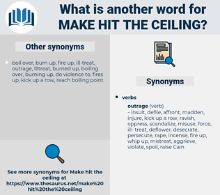 make hit the ceiling, synonym make hit the ceiling, another word for make hit the ceiling, words like make hit the ceiling, thesaurus make hit the ceiling