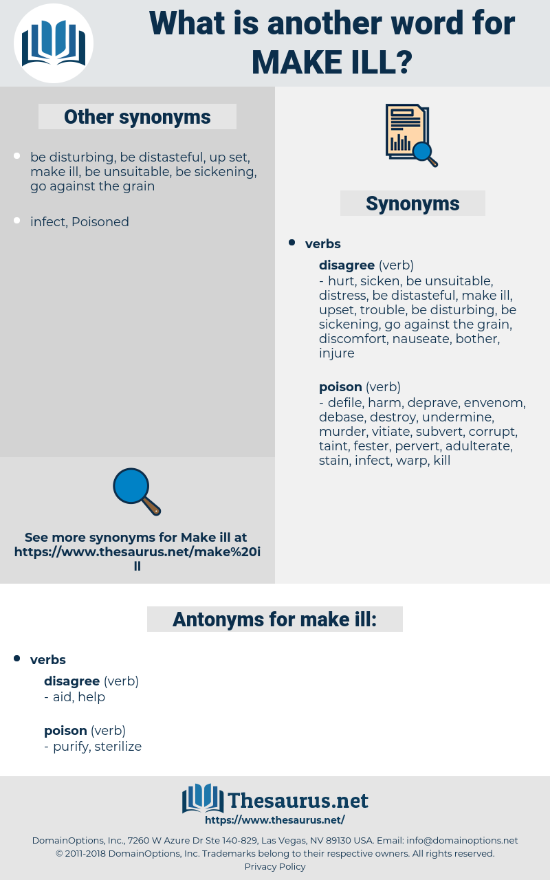make ill, synonym make ill, another word for make ill, words like make ill, thesaurus make ill
