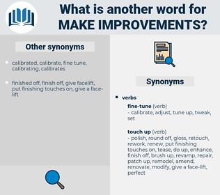 make improvements, synonym make improvements, another word for make improvements, words like make improvements, thesaurus make improvements