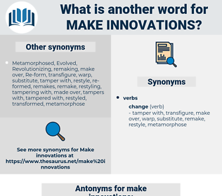 make innovations, synonym make innovations, another word for make innovations, words like make innovations, thesaurus make innovations