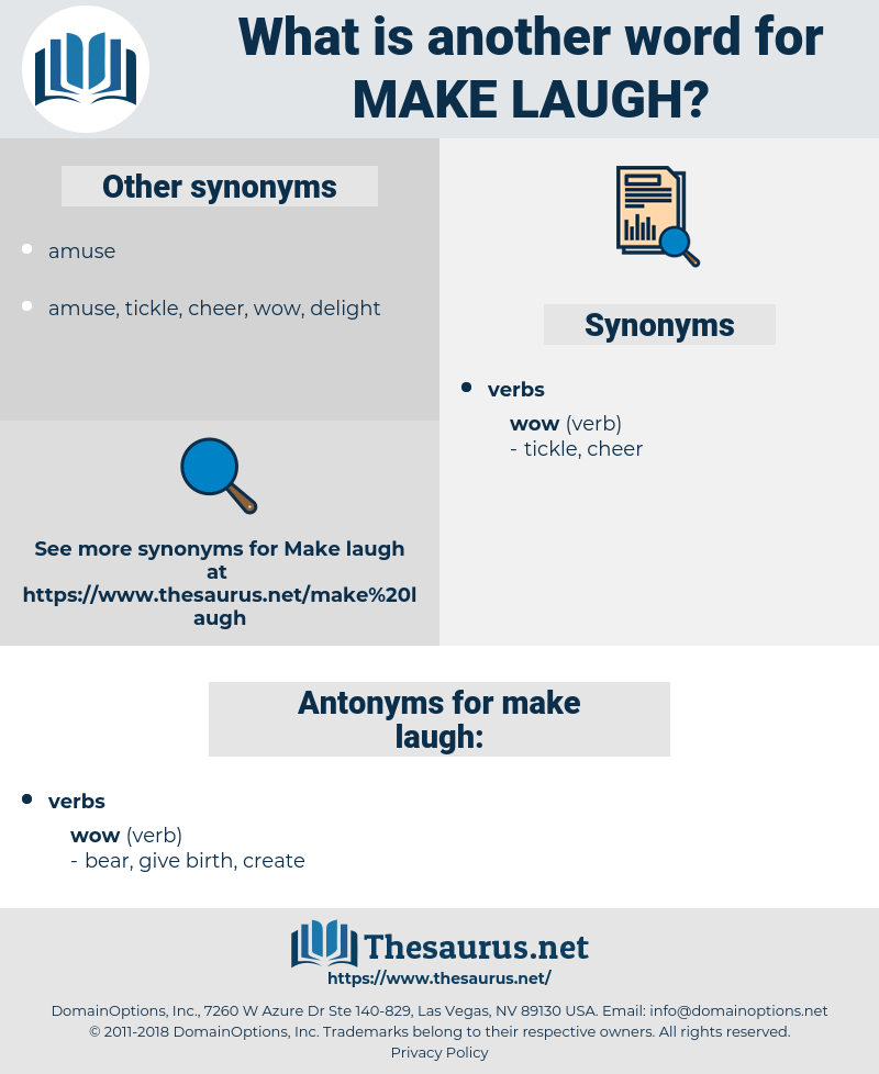 make laugh, synonym make laugh, another word for make laugh, words like make laugh, thesaurus make laugh