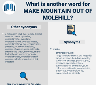 make mountain out of molehill, synonym make mountain out of molehill, another word for make mountain out of molehill, words like make mountain out of molehill, thesaurus make mountain out of molehill