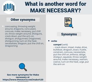 make necessary, synonym make necessary, another word for make necessary, words like make necessary, thesaurus make necessary
