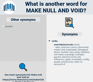 make null and void, synonym make null and void, another word for make null and void, words like make null and void, thesaurus make null and void