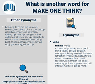 make one think, synonym make one think, another word for make one think, words like make one think, thesaurus make one think