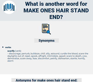 make ones hair stand end, synonym make ones hair stand end, another word for make ones hair stand end, words like make ones hair stand end, thesaurus make ones hair stand end