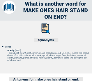 make ones hair stand on end, synonym make ones hair stand on end, another word for make ones hair stand on end, words like make ones hair stand on end, thesaurus make ones hair stand on end