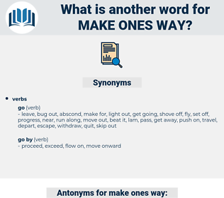 make ones way, synonym make ones way, another word for make ones way, words like make ones way, thesaurus make ones way