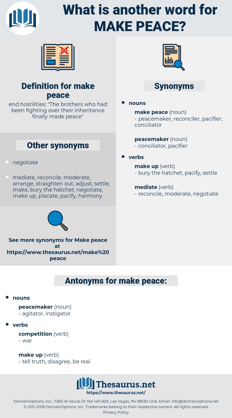 make peace, synonym make peace, another word for make peace, words like make peace, thesaurus make peace