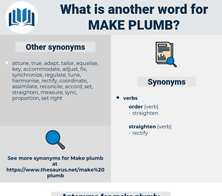 make plumb, synonym make plumb, another word for make plumb, words like make plumb, thesaurus make plumb