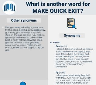 make quick exit, synonym make quick exit, another word for make quick exit, words like make quick exit, thesaurus make quick exit