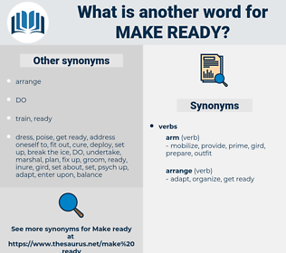 make ready, synonym make ready, another word for make ready, words like make ready, thesaurus make ready