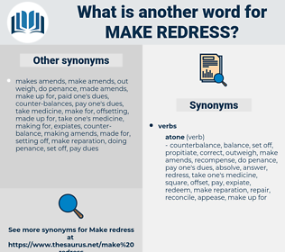 make redress, synonym make redress, another word for make redress, words like make redress, thesaurus make redress