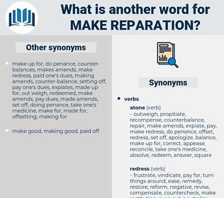 make reparation, synonym make reparation, another word for make reparation, words like make reparation, thesaurus make reparation