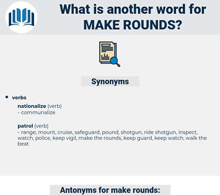 make rounds, synonym make rounds, another word for make rounds, words like make rounds, thesaurus make rounds