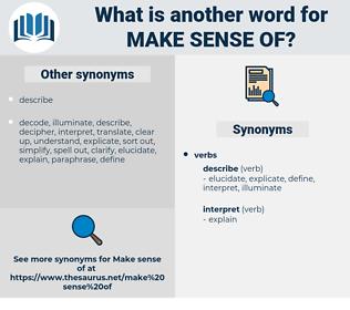 make sense of, synonym make sense of, another word for make sense of, words like make sense of, thesaurus make sense of