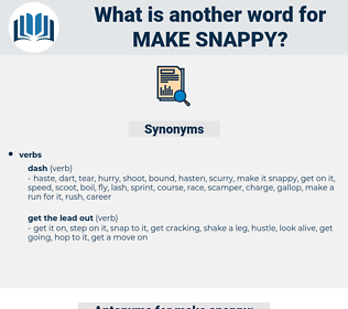 make snappy, synonym make snappy, another word for make snappy, words like make snappy, thesaurus make snappy