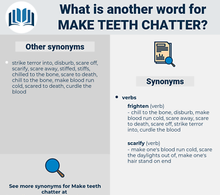 make teeth chatter, synonym make teeth chatter, another word for make teeth chatter, words like make teeth chatter, thesaurus make teeth chatter