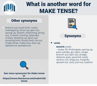 make tense, synonym make tense, another word for make tense, words like make tense, thesaurus make tense