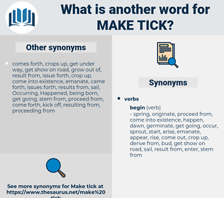 make tick, synonym make tick, another word for make tick, words like make tick, thesaurus make tick