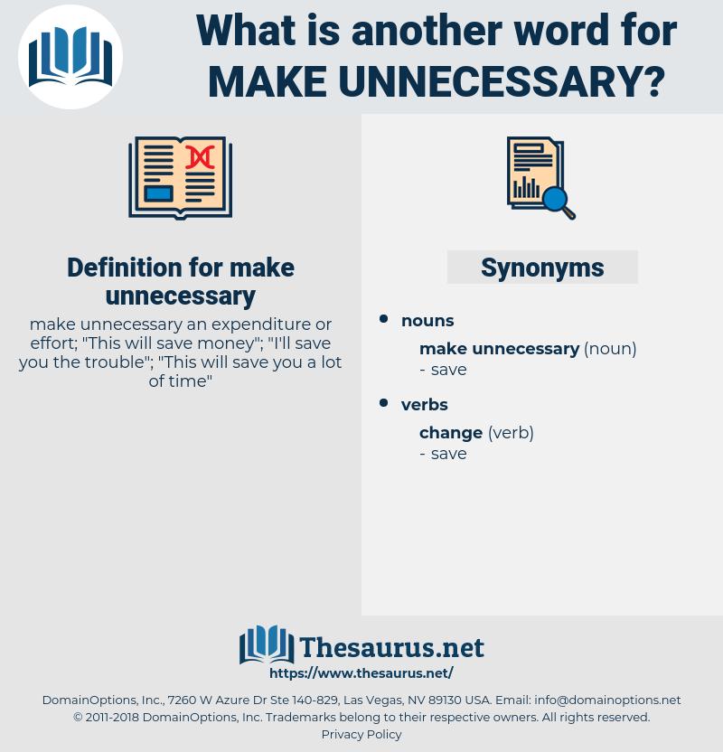 make unnecessary, synonym make unnecessary, another word for make unnecessary, words like make unnecessary, thesaurus make unnecessary