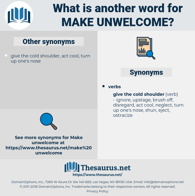 make unwelcome, synonym make unwelcome, another word for make unwelcome, words like make unwelcome, thesaurus make unwelcome