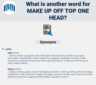 make up off top one head, synonym make up off top one head, another word for make up off top one head, words like make up off top one head, thesaurus make up off top one head