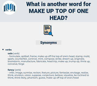 make up top of one head, synonym make up top of one head, another word for make up top of one head, words like make up top of one head, thesaurus make up top of one head