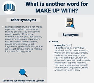 make up with, synonym make up with, another word for make up with, words like make up with, thesaurus make up with