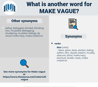 make vague, synonym make vague, another word for make vague, words like make vague, thesaurus make vague