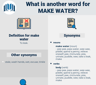 make water, synonym make water, another word for make water, words like make water, thesaurus make water