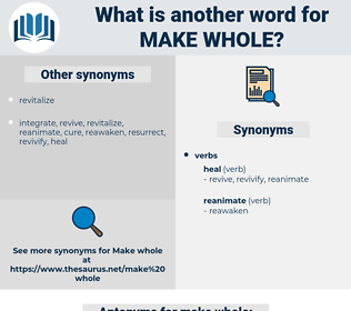 make whole, synonym make whole, another word for make whole, words like make whole, thesaurus make whole