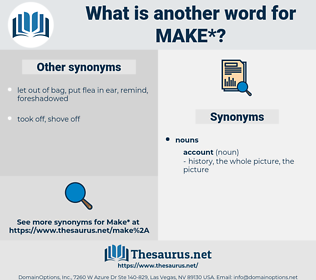 make, synonym make, another word for make, words like make, thesaurus make