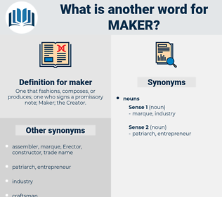 maker, synonym maker, another word for maker, words like maker, thesaurus maker