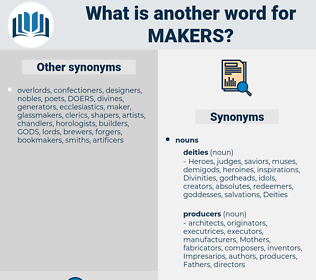 makers, synonym makers, another word for makers, words like makers, thesaurus makers