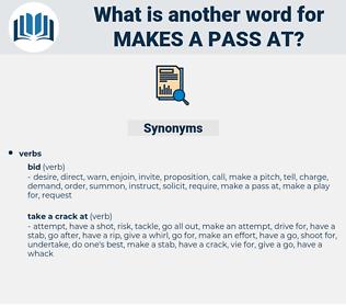 makes a pass at, synonym makes a pass at, another word for makes a pass at, words like makes a pass at, thesaurus makes a pass at