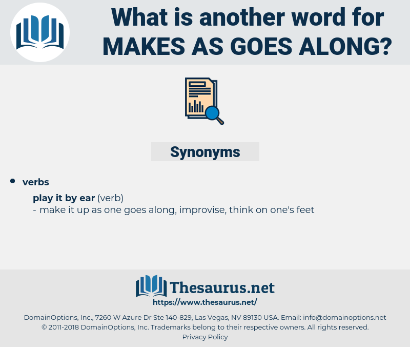 makes as goes along, synonym makes as goes along, another word for makes as goes along, words like makes as goes along, thesaurus makes as goes along