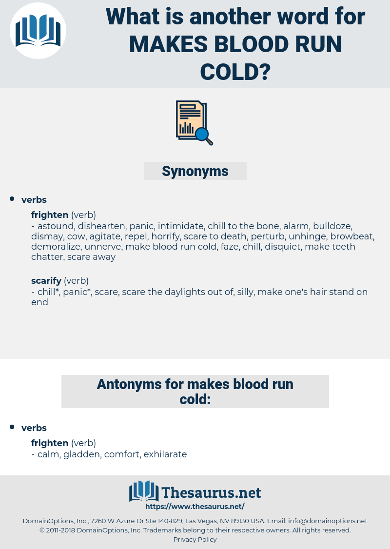 makes blood run cold, synonym makes blood run cold, another word for makes blood run cold, words like makes blood run cold, thesaurus makes blood run cold