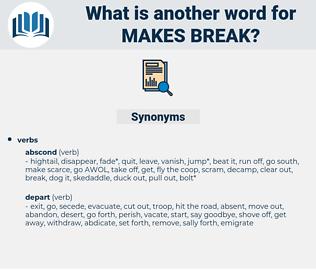 makes break, synonym makes break, another word for makes break, words like makes break, thesaurus makes break