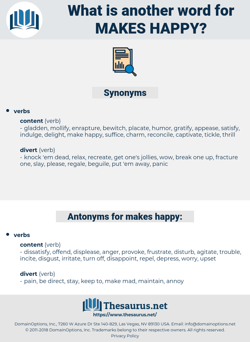 makes happy, synonym makes happy, another word for makes happy, words like makes happy, thesaurus makes happy