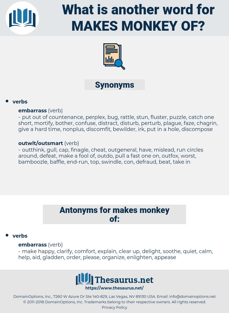 makes monkey of, synonym makes monkey of, another word for makes monkey of, words like makes monkey of, thesaurus makes monkey of