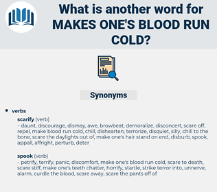 makes one's blood run cold, synonym makes one's blood run cold, another word for makes one's blood run cold, words like makes one's blood run cold, thesaurus makes one's blood run cold