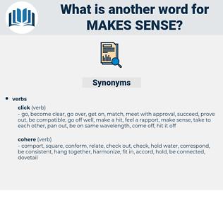 makes sense, synonym makes sense, another word for makes sense, words like makes sense, thesaurus makes sense